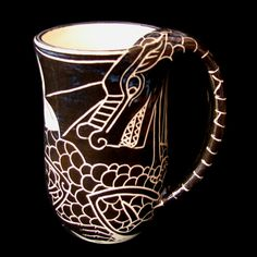 Dragon Mug by rhoneypots on Etsy, $39.00