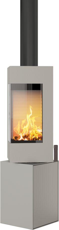 Rais Q-Be er en intelligent peisovn i lekkert, kubistisk design. En markant, levende skulptur som med sin automatiske luftregulering gir optimal forbrenning og varmeøkonomi.Øverste delen av ovnen kan dreies, slik at flammene kan vendes dit du ønsker. O Stove, Home Appliances, Wood, Home Decor, Modern, House Appliances, Woodwind Instrument, Hearth, Kitchen Appliances