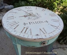 Clock Face Table