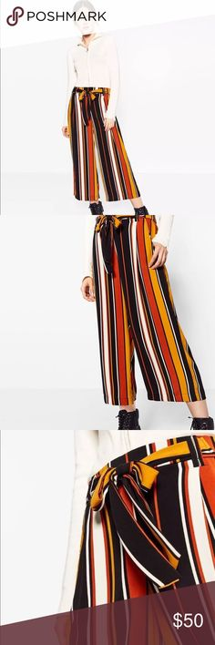 Zara Flowing Cropped Trousers Price firm unless bundled. NO TRADE. One day handling on all orders from M-F. Comes from smoke free & pet free environment. Zara Pants Ankle & Cropped