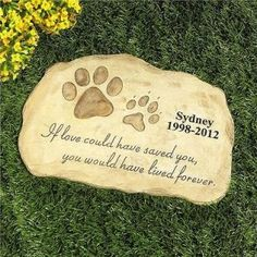 PERSONALIZED Pet Memorial Stone Garden Monument Cemetery Grave Dog Cat