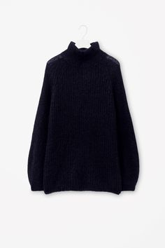High-neck mohair jumper