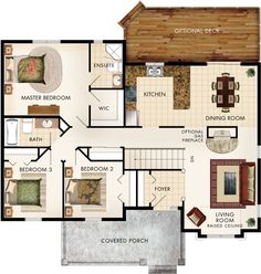 Beaver Homes and Cottages - Cottonwood Lake House Plans, Bungalow House Plans, Craftsman House Plans, Small House Plans, House Floor Plans, Craftsman Style, Cottage Design, House Design, Beaver Homes And Cottages