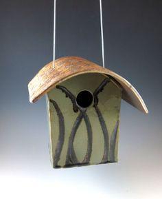 Bird House – Ceramic Garden Art – Pottery Birdhouse – 576