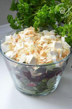 2 garści migdałów w płatkach – ok Healthy Salads, Healthy Recipes, Vegan Runner, Kale Caesar Salad, Vegan Gains, Salad Dishes, Vegan Pizza, Easy Food To Make, Vegan Desserts