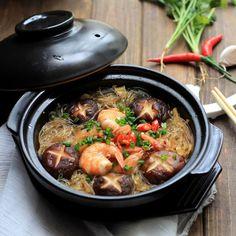 Mung Bean Noodles Braised with Shrimps