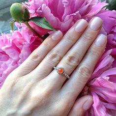 Pandora birthstone ring cornelian
