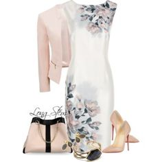 Conjunto en blanco y rosa palo