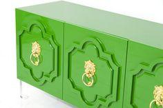 Marrakesh 3 Door Credenza in Kelly Green   ModShop #colorfurniture