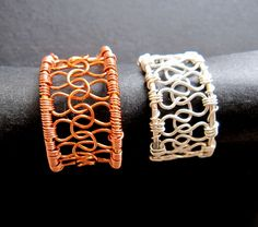 Wire knit ring tutorial - Well, maybe not rings, but I'd definitely want to try this for a cuff.  $9.20 tutorial