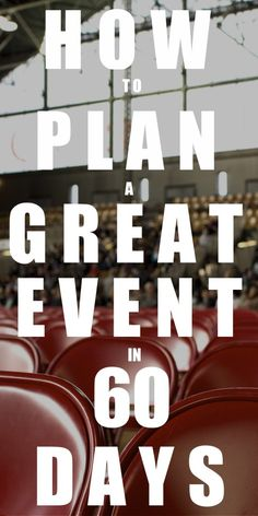"""Are you thinking about planning a large event and need help...fast? """"How to Plan a Great Event in 60 Days"""" is a step-by-step eBook that will show you how to plan your very own social event in a little over two months. Daily exercises, practical advice, and checklists make event planning a breeze! Learn more at: www.theorderexpert.com/how-to-plan-a-great-event-in-60-days/"""