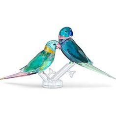 Two Birds, Small Birds, Swarovski Gifts, Swarovski Crystals, Crystal Stemware, Clear Crystal, Bird Perch, Decoration Piece, Parakeet