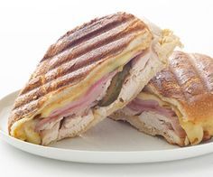 Cuban Chicken Sandwich is full of flavor. Sandwich Recipe. Sub chicken slices for Hormel Natural Choice Carved Chicken Breast for delicious change. Check it out on our FB page >>> http://ow.ly/dBPmz