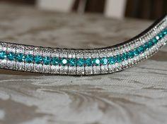 Equiture - Blue zircon, clear and black diamond megabling browband, $89.35 (http://www.equiture.biz/blue-zircon-clear-and-black-diamond-megabling-browband/)