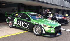 Marcos Ambrose's 2015 Ford Falcon FG X - Supercar - Australia - that front end is looking mean! Australian V8 Supercars, Australian Cars, Ford Mustang V8, Car Ford, Ford V8, Le Mans, Touring, Aussie Muscle Cars, Chevy Ss
