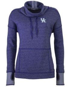 Antigua Women's Kentucky Wildcats Snap Pullover - Blue