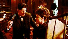 """The Doctor: """"Hang on, I've got a sonic screwdriver!"""" Clara: """"Yeah? I've got a chair."""" So great."""