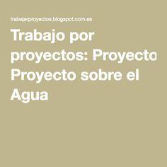 Proyecto sobre el Agua para 5 años de Educación Infantil