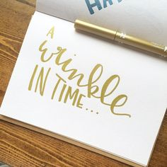 "268:: ""A Wrinkle In Time"" // favorite  #emletters #lettereveryday"