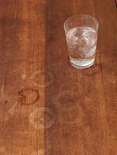 Water Rings On Wood   Mix Equal Parts Of Baking Soda And White Cream