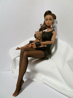 Poppy Parker doll with lion cub