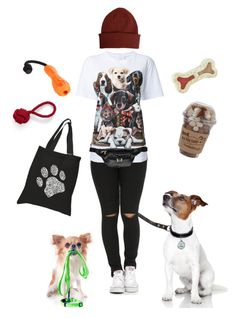 """Crazy puppy lady"" by gardenofroses on Polyvore featuring Los Angeles Pop Art, Lands' End, WALL, Paul Smith, Ruffwear, Boohoo, dogs, puppies, walking and crazydoglady"