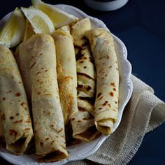 Pancakes with Cinnamon Sugar. A South-African favourite Pancakes (crepes) with cinnamon-sugar. The ultimate comfort food. Crepe Suzette, Pancake Roll, Strawberry Crepes, Chocolate Dipping Sauce, Great Recipes, Favorite Recipes, Fall Recipes, Recipe Ideas, South African Recipes