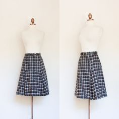 vintage 1960s Sid Harris Junior Teen wool skirt by inheritedattire