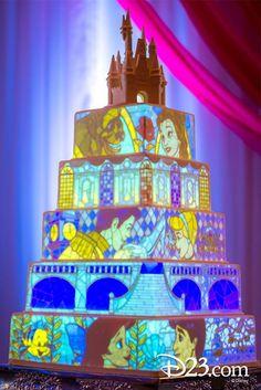 Stunning Disney Wedding Cake