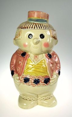 ab1e5d5a3f4 Austrian German Boy Hand Painted Ceramic Cookie Jar Japan  xx Ceramic  Cookie Jar