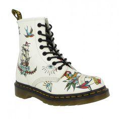 chaussure cuir Femme Blanc Tatoo                                                                                                                                                                                 Plus