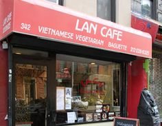 Lan Cafe NYC, 342 E 6th St (btw 1st and 2nd).  Vegan vietnamese.  loved this place! baguettes were so yummy.  soup was flavorful and spring rolls good too.  7/10