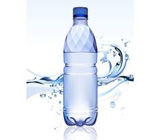 Free simplistic illustration of bottle vector. This blue bottle of full of fresh crystal clear water. There is an abstract water splash in the back of this Paper Boat Drinks, Drinking Water Bottle, Water Company, Dream Party, Get Healthy, Healthy Eating, Vector Free, Vector Graphics, Minerals