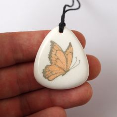 Butterfly pendant Butterfly necklace Butterfly jewelry by BDSart