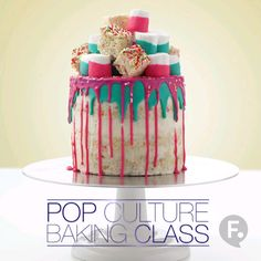Pop Culture Baking: Krispy Treat Drip Cake