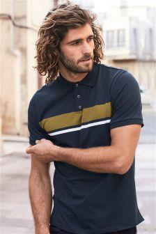 Mens Next Navy Chest Stripe Polo - Blue Polo Rugby Shirt, Men's Polo, Polo Shirt Design, Polo Shirt Style, Latest Fashion For Women, Mens Fashion, Printed Polo Shirts, Polo Blue, Mode Online