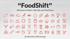 FoodShift Icon Set: 100 Free Food & Drink Icons, #AI, #EPS, #Food and #Drink, #Free, #Graphic #Design, #Icon, #Outline, #PNG, #Resource, #SVG, #Vector