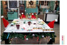 Holiday breakfast party! See more party planning ideas at CatchMyParty.com!