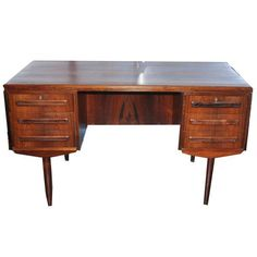 Danish Modern Rosewood Desk on Chairish.com