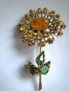 Vintage Schreiner New York Flower Brooch