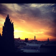 Sunset in Florence ...