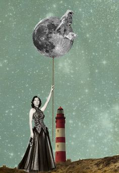 chztn:  Digital collages and illustrations infused with vintage...