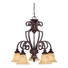 Find this Pin and more on lighting.  sc 1 st  Pinterest & Golden Lighting 4002-D5 RSB 5 Light Loretto Nook Chandelier ... azcodes.com