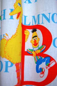 Vintage Sesame Street Curtains Set Of Two By SprinklesInTime 1500