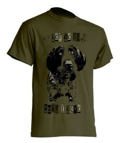 koszulka z nadrukiem-wyzel szorstkowlosy-khaki