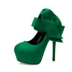 Tienda Online Extreme high heels sexy zapatos de tacones de las mujeres zapatos de vestir arco talones de las mujeres zapatos de tacón bombas de las mujeres zapatos de plataforma verde rojo de la boda D815 | Aliexpress móvil