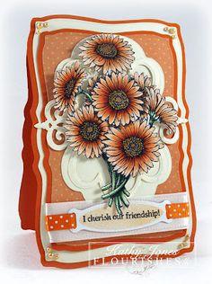 Flourishes card using Spellbinders dies - by Kathy Jones