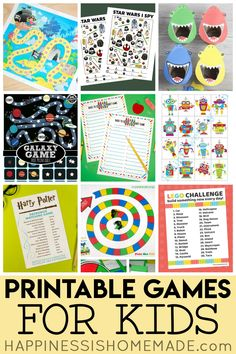 25 printable games for kids of all ages! From learning games, board games, printable puzzles, and more, these games are perfect for a family game night! Fun Card Games, Card Games For Kids, Fun Games, Class Games, Group Games, Dice Games, Printable Games For Kids, Printable Board Games, Printable Puzzles