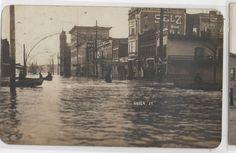 RPPC MARIETTA OHIO FLOOD DISATER 1908 GREEN STREET