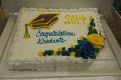 *UPDATE* One of the most popular places to buy a cake is Costco. The cake can serve. Graduation Food, Graduation Celebration, Costco Sheet Cake, Sheet Cakes, Sheet Cake Designs, Order Cake, Bear Cakes, Grad Parties, Dessert Recipes